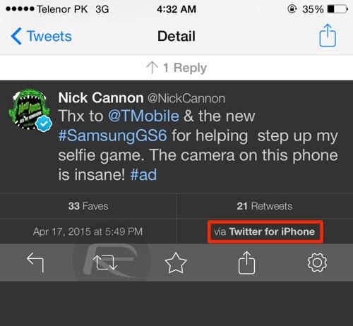 Promovare Galaxy s6 iPhone