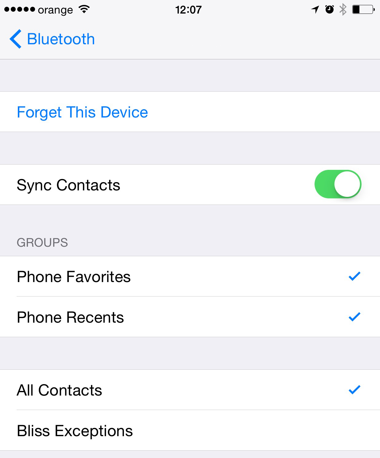 Rezolvare probleme Bluetooth iOS 8.3