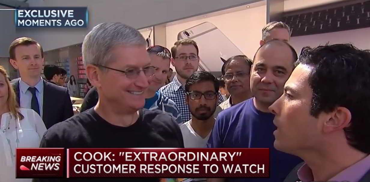 Tim Cook precomenzi Apple Watch