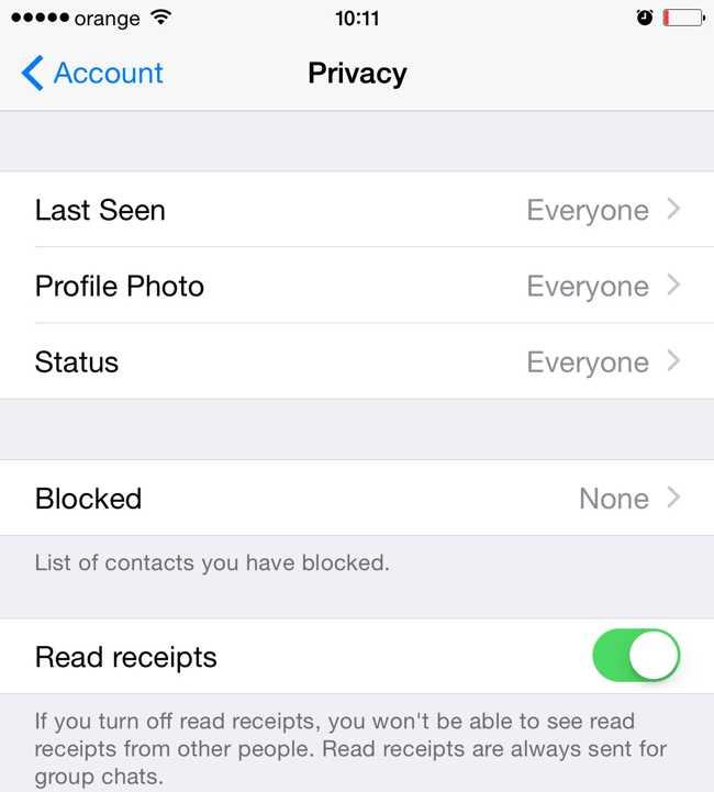 WhatsApp Messenger confirmari citire