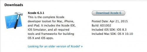 XCode 6.3.1 update principal
