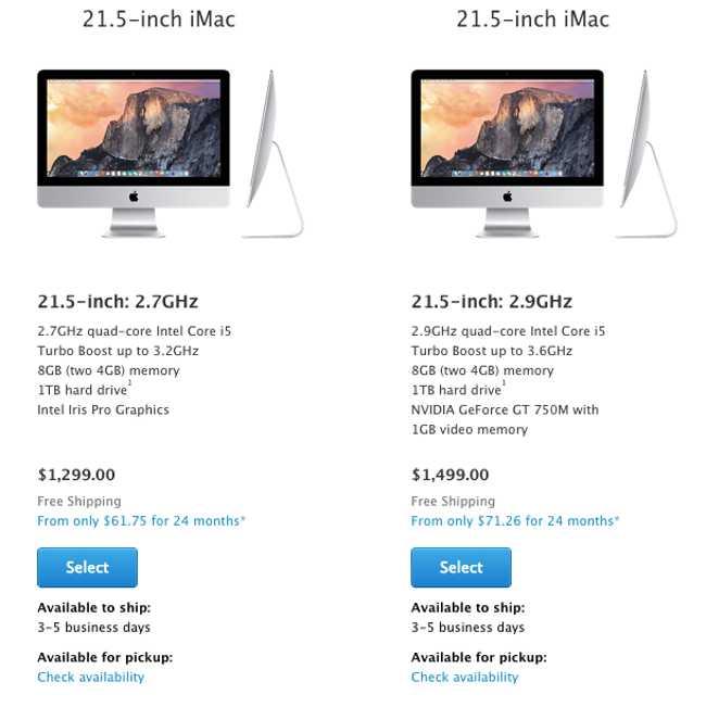 iMac 2014 Apple