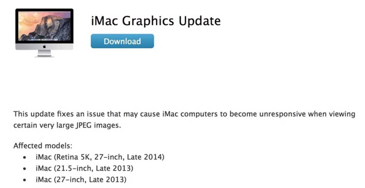 iMac update