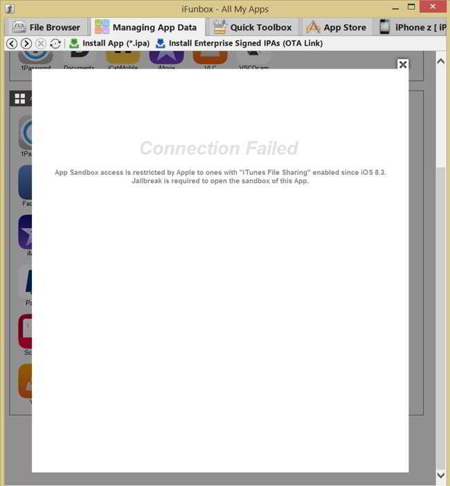 iOS 8.3 blocare acces aplicatii iFunbox iExplorer