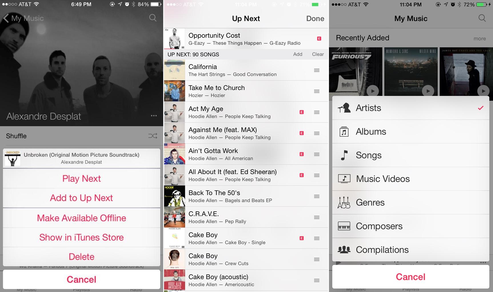 iOS 8.4 aplicatie Muzica My Music
