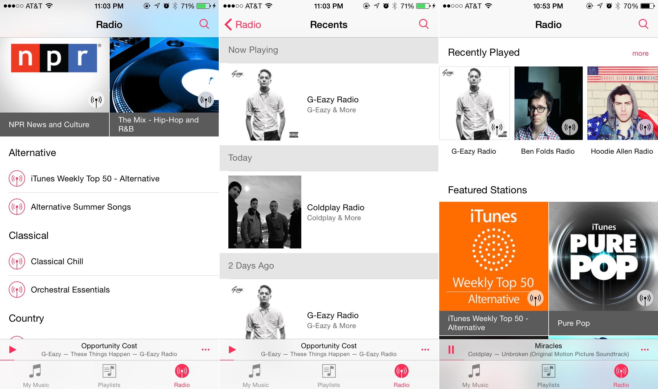 iOS 8.4 aplicatie Muzica iTunes Radio