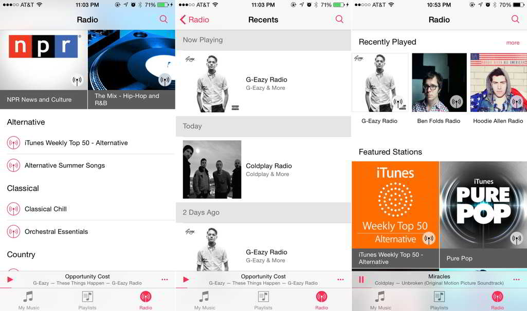 iOS 8.4 aplicatie Muzica iTunes Radio feat
