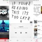 iOS 8.4 aplicatie Muzica principal