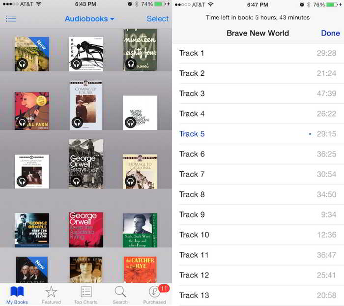 iOS 8.4 audiobooks