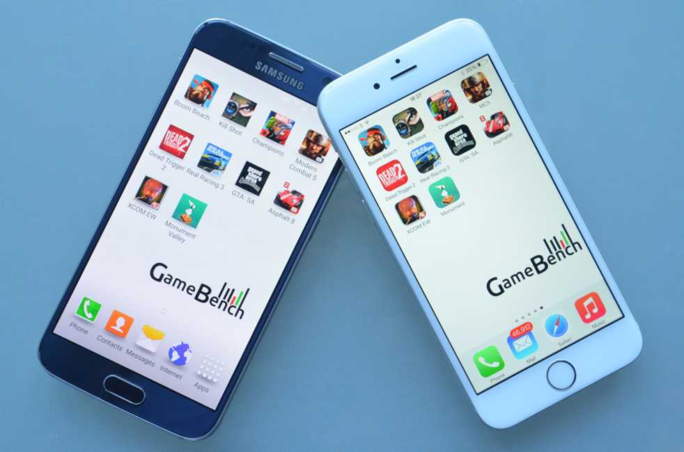 iPhone 6 vs Samsung Galaxy S6 benchmark jocuri