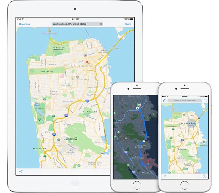 Apple Maps baza de date
