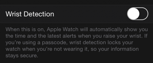 Apple Watch detectare pielel
