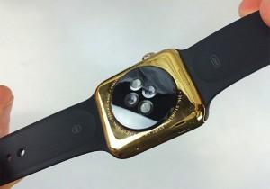 Apple Watch placare aur singur