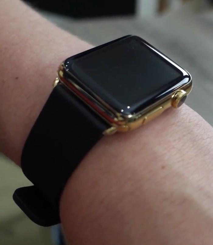 Apple Watch placat cu aur galben