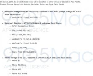 Apple sisteaza suportul de reparatii pentru unele terminale iPhone si Mac