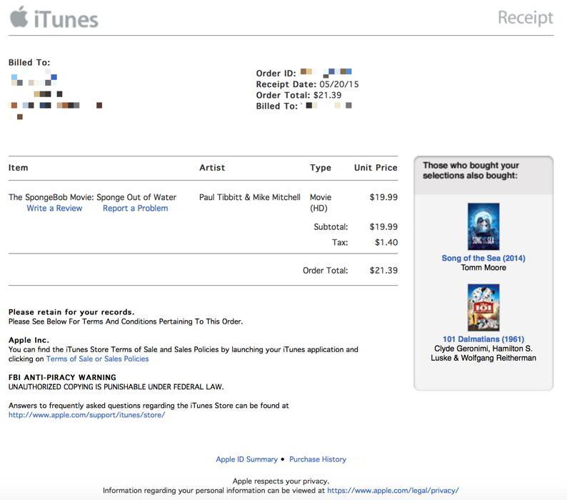 Chitanta iTunes