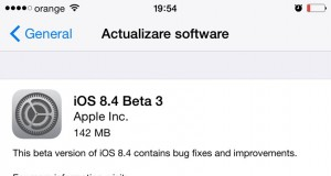 Descarca instaleaza iOS 8.4 beta 3 fara UDID