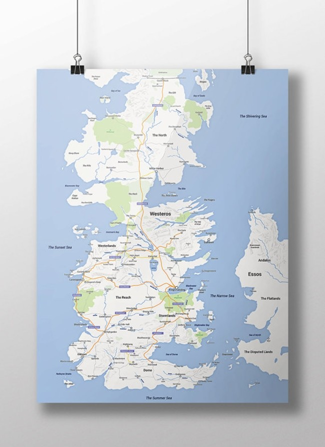 Game of Thrones Westeros 1 Google Maps - iDevice.ro