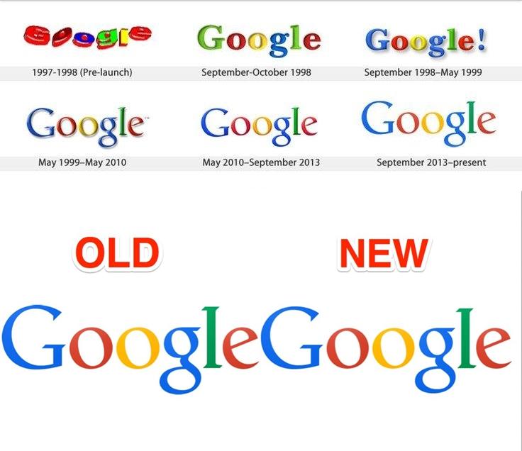 Google evolutie logo - iDevice.ro