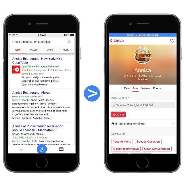 Google indexare aplicatii