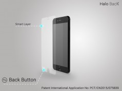 Halo Back folie buton back iphone