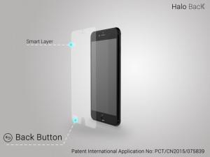 Halo Back folie buton back iphone