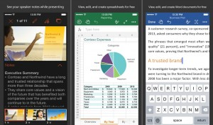 Microsoft Word Excel Powerpoint iOS