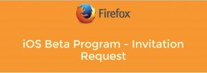 Mozilla beta program