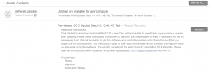 OS X Yosemite 10.10.4 beta build 14E17e