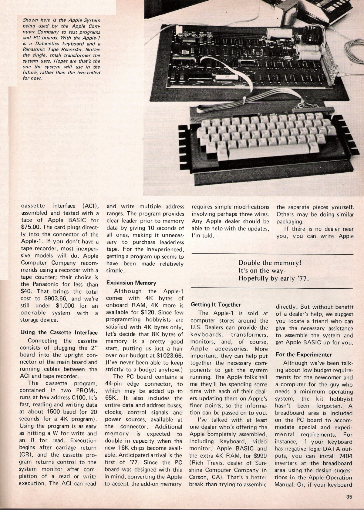 Primul articol despre Apple intr-un ziar 1