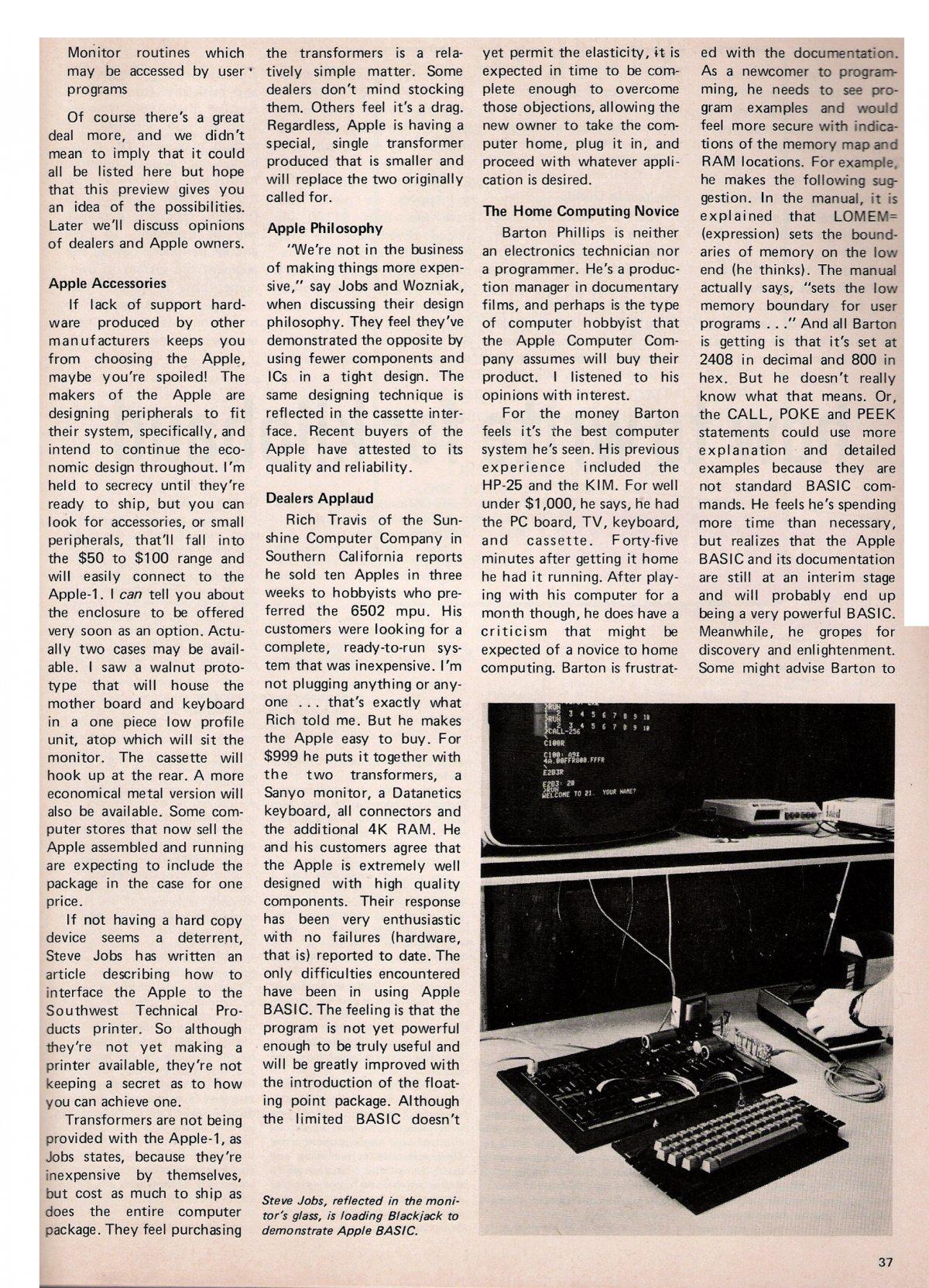 Primul articol despre Apple intr-un ziar 2