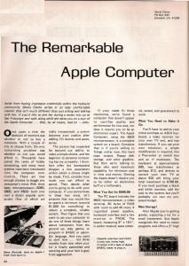 Primul articol despre Apple intr-un ziar
