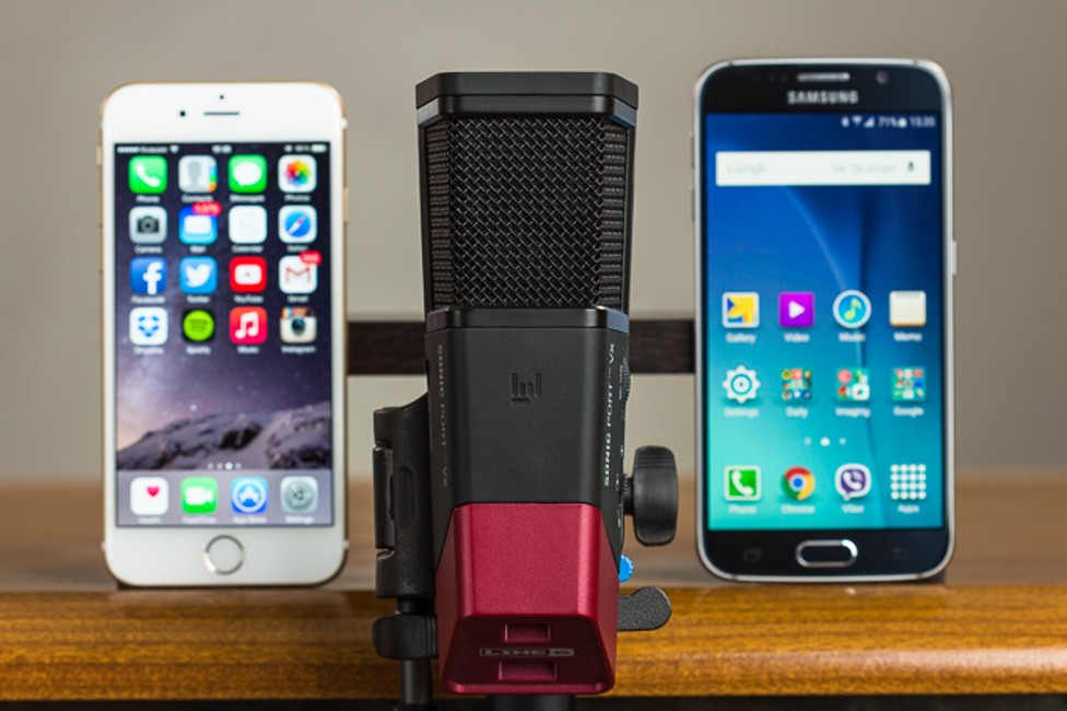 Samsung Galaxy S6 iPhone 6 comparatie difuzor