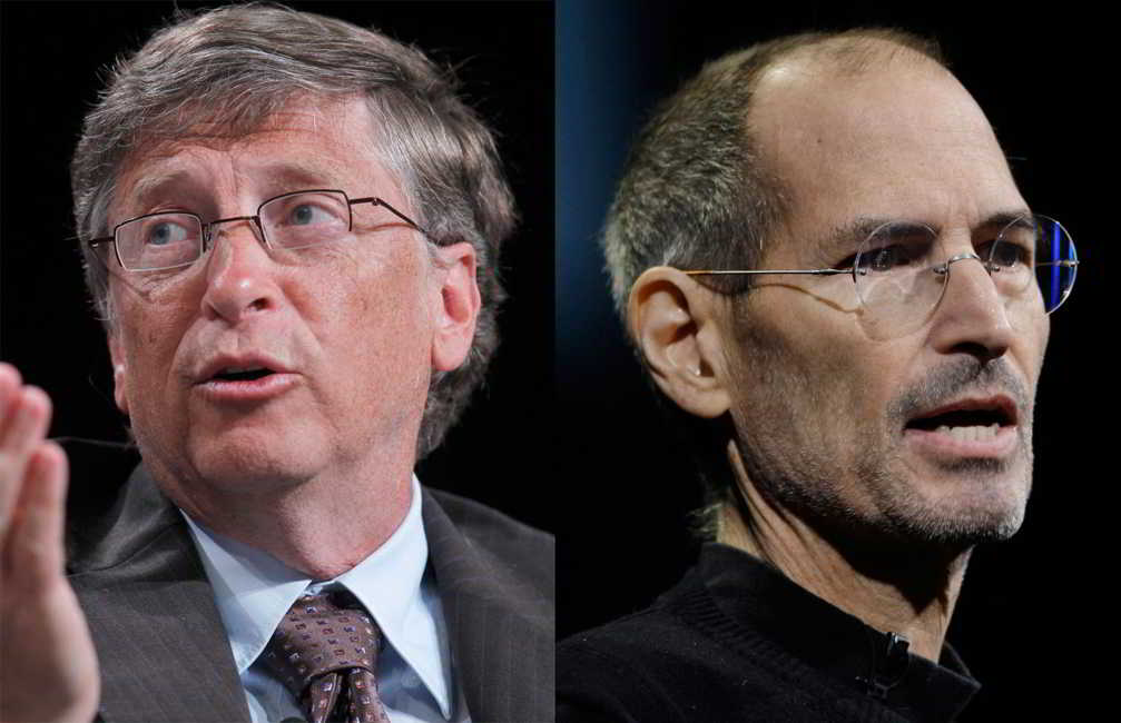 bill gates steven jobs Steven paul jobs was an american entrepreneur and business magnate he was the chairman  when he was 13 in 1968, jobs was given a summer job by bill hewlett (of hewlett-packard) after jobs cold-called  :308–309 shortly after its release in 1985, bill gates's then-developing company, microsoft, threatened to.