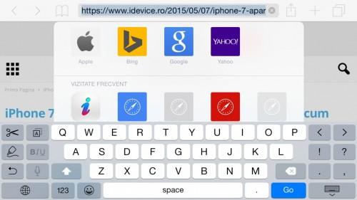 Tastatura iOS 9