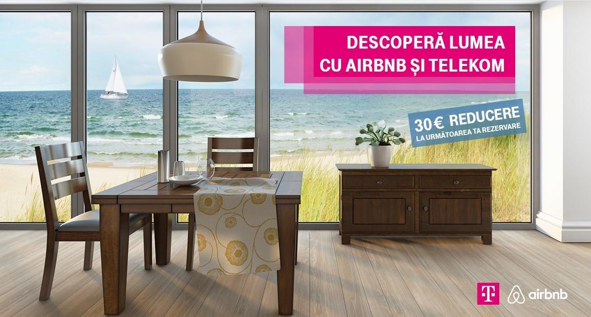 Telekom Romania 30 de euro reducere la cazare prin Airbnb