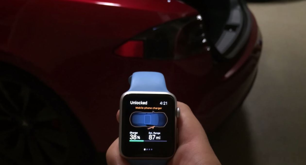 Tesla Model S - Remote S control Apple Watch - iDevice.ro