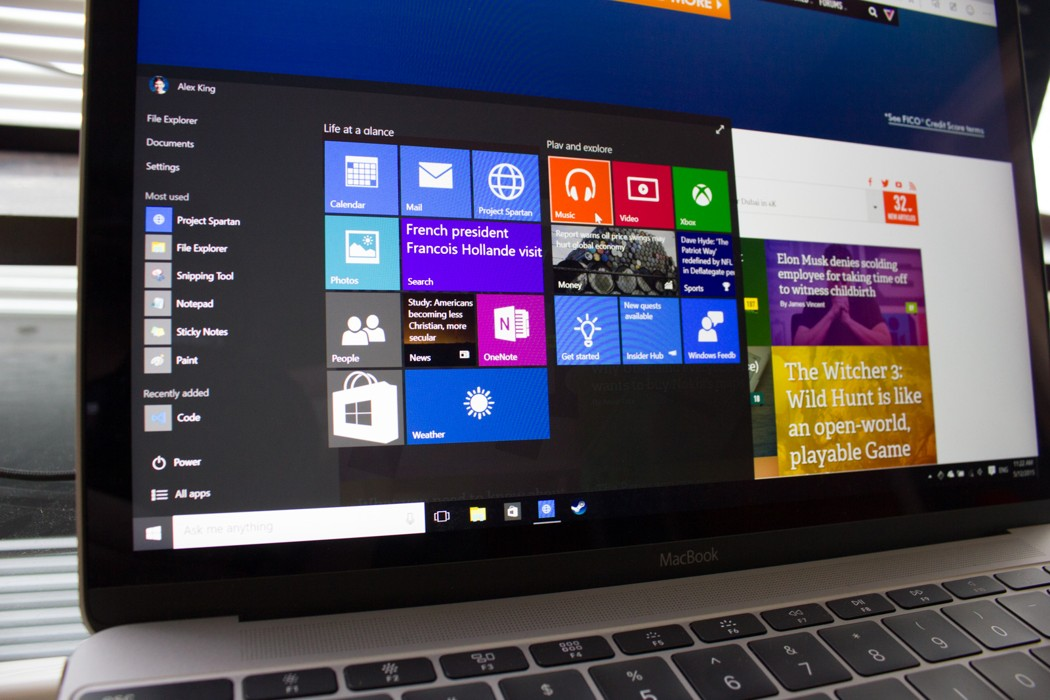 Windows 10 merge mai bine pe Windows 10 decat pe OS X