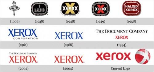 Xerox evolutie logo - iDevice.ro