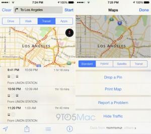 iOS 9 Apple Maps