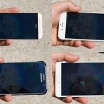 test ecran afisare imagini aer liber iPhone 6 vs Galaxy S6 vs One M9 vs Galaxy Note 6 2