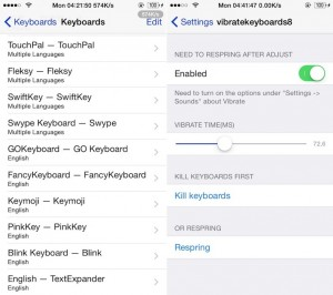 vibratekeyboards8 tweak Cydia - iDevice.ro