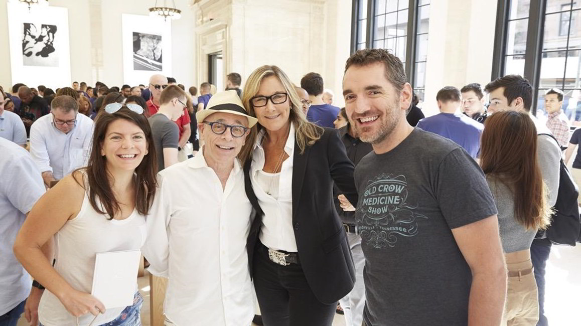 Angela Ahrendts Apple Store New York