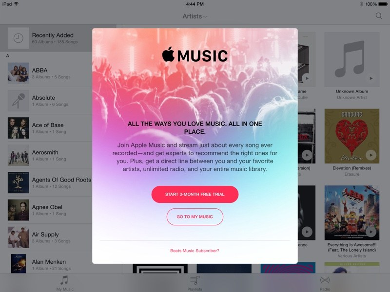 Apple Music alerta
