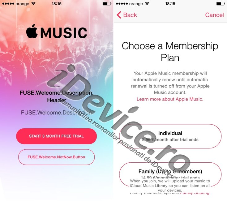 Apple Music lansat Romania