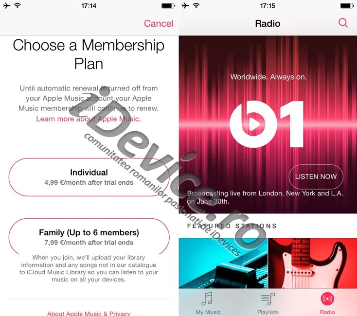 Apple Music pret abonament Europa