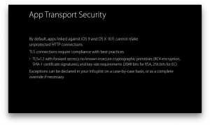Apple securitate HTTPS aplicatii