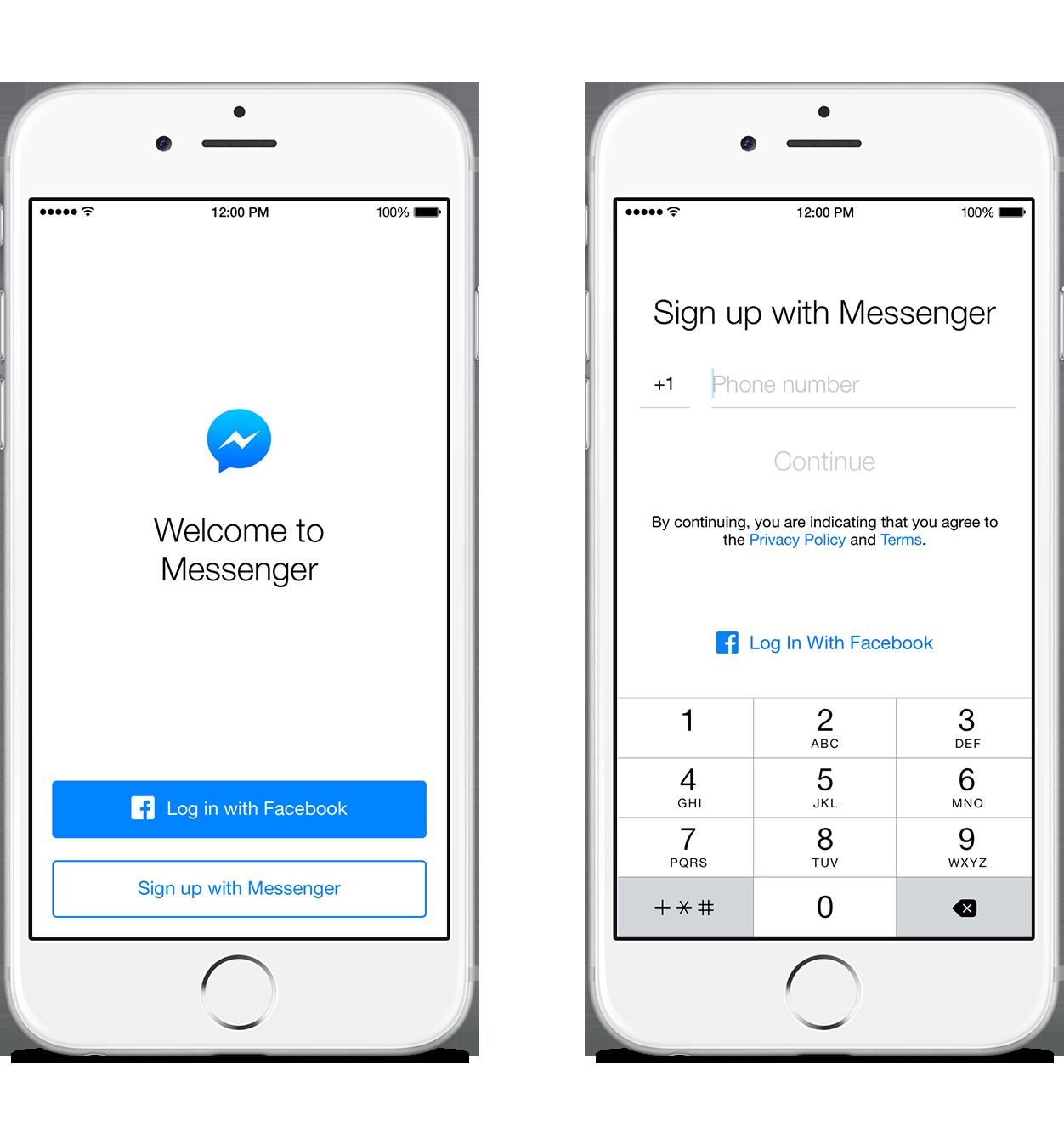 Facebook Messenger numar de telefon