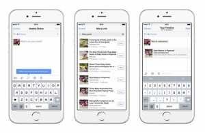 Facebook share a link
