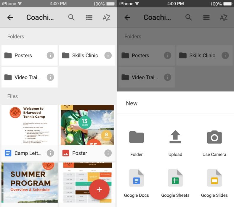 Google Drive design material
